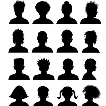 People Vector Avatar Silhouettes - vector #202185 gratis