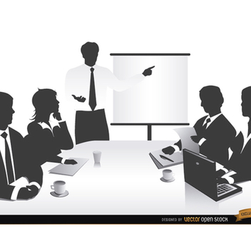 Business People Vector Silhouette - Free vector #202195