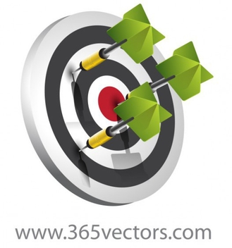 Free Vector Target with Darts - Kostenloses vector #202255