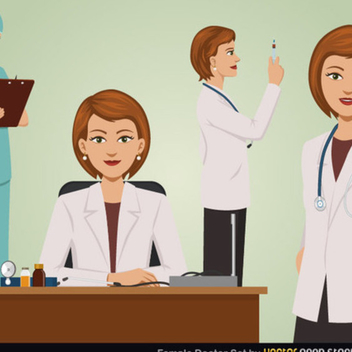 Free Vector Female Doctor Set - Free vector #202305
