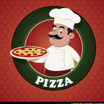 Free Vector Pizza Logo - vector gratuit #202325