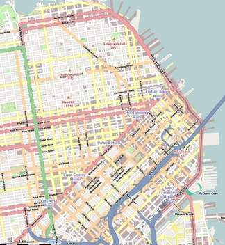 San Francisco Vector Map - vector gratuit #202365