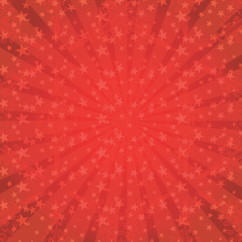 Red Star Sunburst Vector - Kostenloses vector #202515