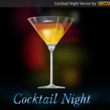 Free Vector Cocktail Background - Free vector #202545