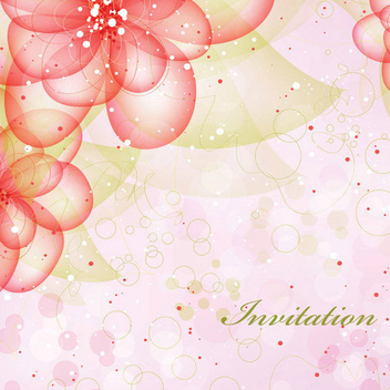 Free Floral Invitation Vector - бесплатный vector #202555