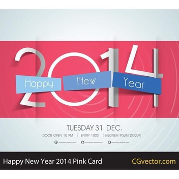 Free Vector Happy New Year Card - vector gratuit #202585