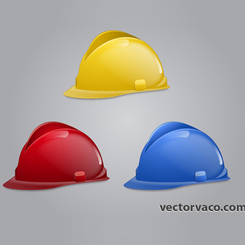 Free Vector Construction Hats - Free vector #202605