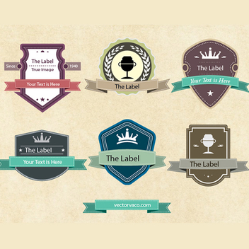 Free Vintage Vector Labels - Free vector #202615
