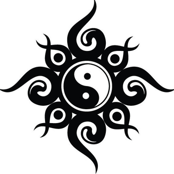 Free Vector Yin Yang Tribal Design - vector gratuit #202685