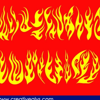 Creative Flames For Logo Design - vector gratuit #202705
