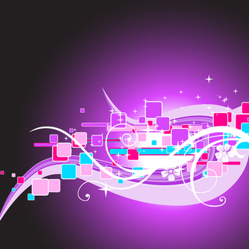 Abstract Purple Vector Background - vector gratuit #202735