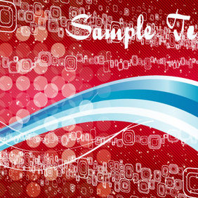 Abstract Bockha Blue & Red Vector - Free vector #202805