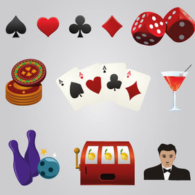 Casino Games Elements - Free vector #202855