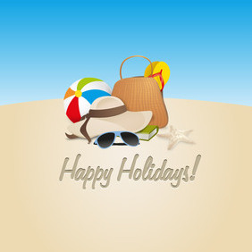 Happy Holidays - vector gratuit #202895