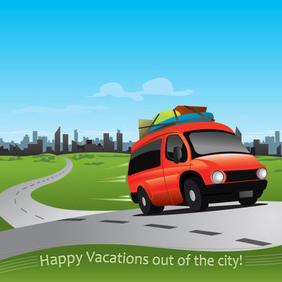 Vacations Out Of The City - vector #202905 gratis