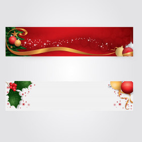 Christmas Headers - бесплатный vector #202975