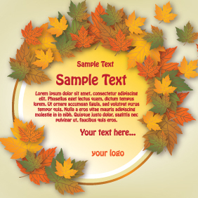 Autumn Banner Circle Design - Free vector #203055