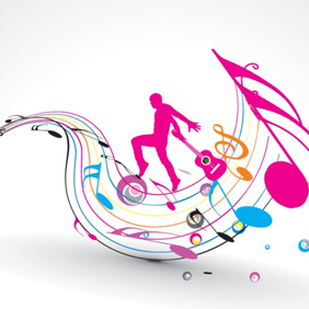 Musical Design Element - vector #203105 gratis