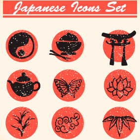 Japanese Vector Icons 6 - vector #203135 gratis