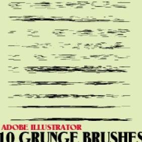 Grunge Brushes For Illustrator Free Vector Download 203145