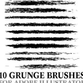 Grunge Illustrator Brushes - Kostenloses vector #203165