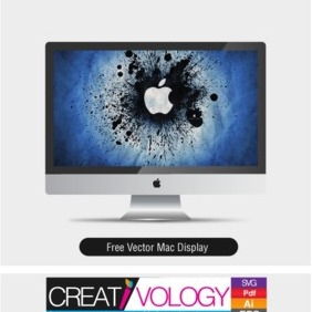 Free Vector Mac Display - Kostenloses vector #203215