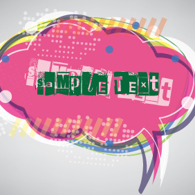 Colorful Speech Cloud Banner - Free vector #203285