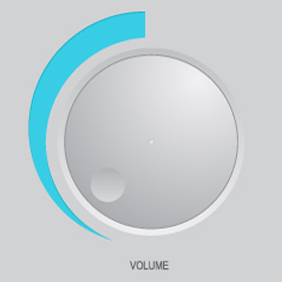 Free Vector Of The Day #153: Volume Knob - vector gratuit #203325