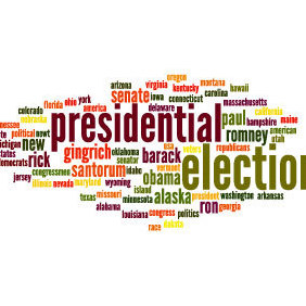 Election 2012 Wolrd Cloud - vector gratuit #203425
