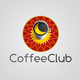 Coffee Club Logo Vector - vector gratuit #203565