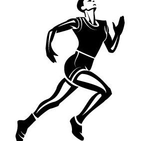 Athlete Runner Vector Image - Free vector #203585