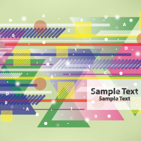 Urban Card Design With Colorful Triangles - Free vector #203625