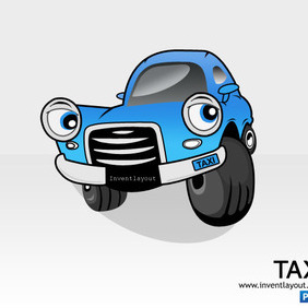 Taxi Car PSD 1 - Free vector #203735