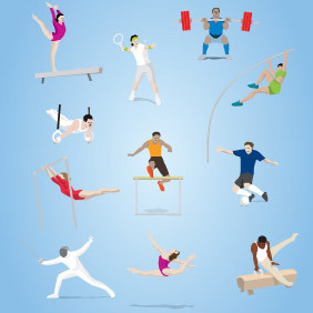 Olympic Sports Vector - vector #203755 gratis