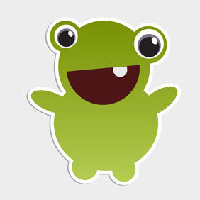 Free Vector Of The Day #102: Cute Monster - Kostenloses vector #203805