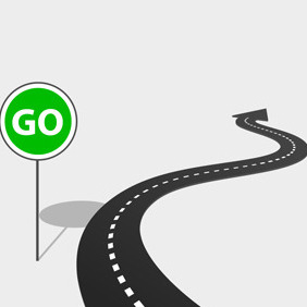 Free Vector Of The Day #85: Highway With Go Sign - vector gratuit #203985