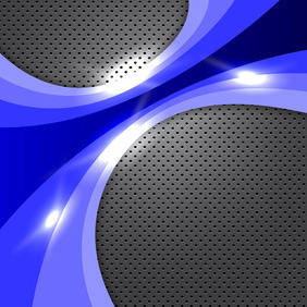 Blue Glowing Background - vector gratuit #203995