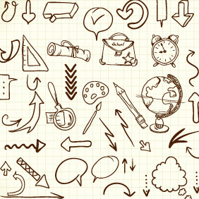 Doodle Travel Elements 1 - Free vector #204005