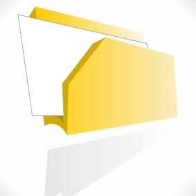 Modern Folder Icon - vector #204025 gratis