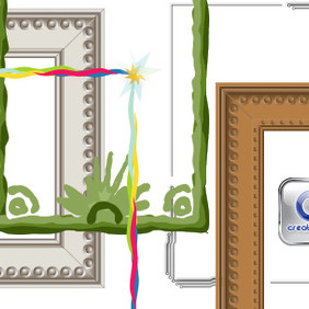 Photo Frames, Creative Borders In Vector - Free vector #204165