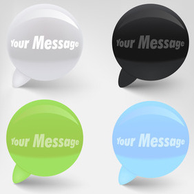 Speech Bubbles Free Vector - Kostenloses vector #204175