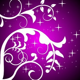 Purple Floral Design - vector gratuit #204245