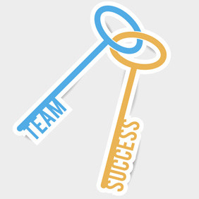 Free Vector Of The Day #121: Team & Success Concept - vector gratuit #204335