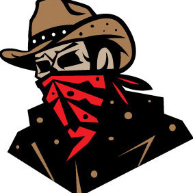 Cowboy With Bandana - vector gratuit #204435