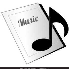 Free Music Note Icon - vector gratuit #204535