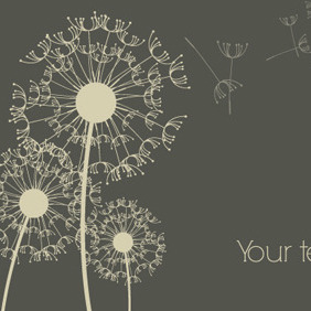 Free Vector Of The Day #41: Dandelion Background - Kostenloses vector #204595