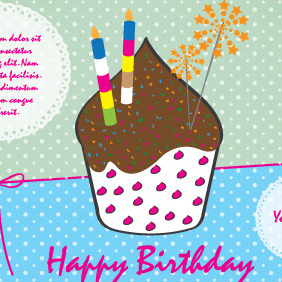Happy Birthday Vector For Kids - Free vector #204605