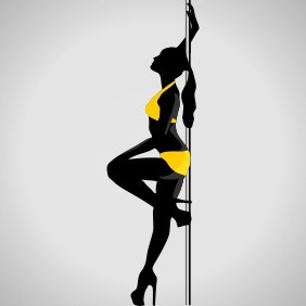 Sexy Women Dances Striptease - Free vector #204635