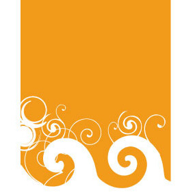 Orange Swirl Background Vector - vector #204825 gratis