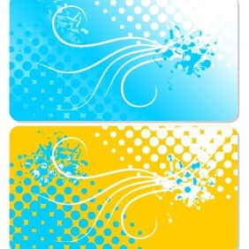 Retro Business Card - vector #205005 gratis